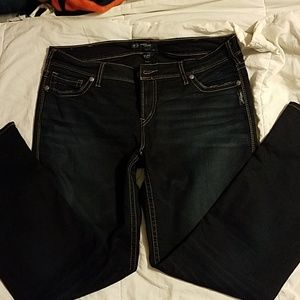 SILVER SUKI MID STRAIGHT JEANS NWOT